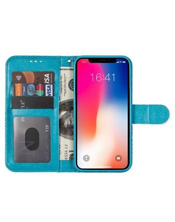 Wallet Case Samsung A8 (2018) dark blue