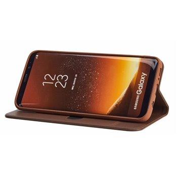 Magnetic Bookcase Samsung Galaxy S8 Plus dark brown