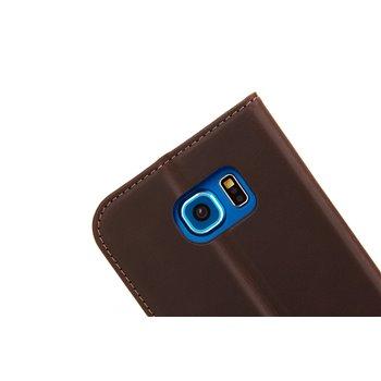 Genuine Leather Bookcase Samsung Galaxy S6 Edge Red