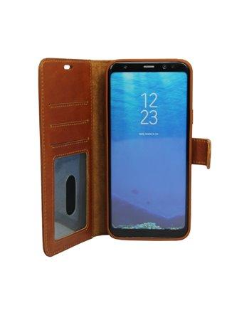 Echt Leren Book Case Galaxy S10 Plus Licht Bruin