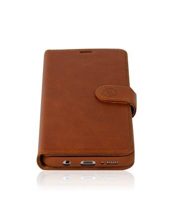 Genuine Leather Book Case Galaxy S10 Plus dark brown