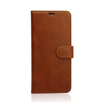 Genuine Leather Book Case Samsung Galaxy S9 Plus light brown