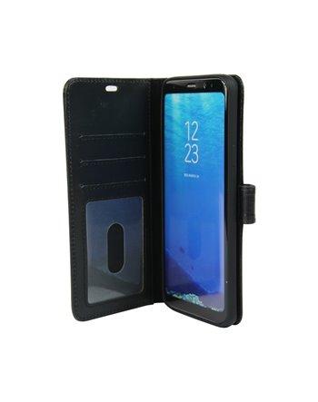 Genuine Leather Bookcase Galaxy S10 Black