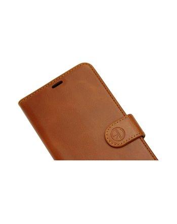 Genuine Leather Book Case Galaxy S10 dark brown