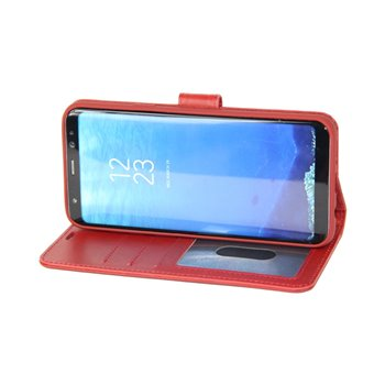 Genuine Leather Book Case iPhone 5G/5S/5SE Red