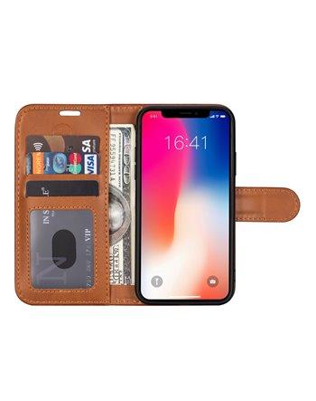 Genuine Leather Book Case Galaxy S10e Red