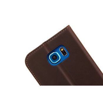 Genuine Leather Book Case iPhone 7/8 light brown