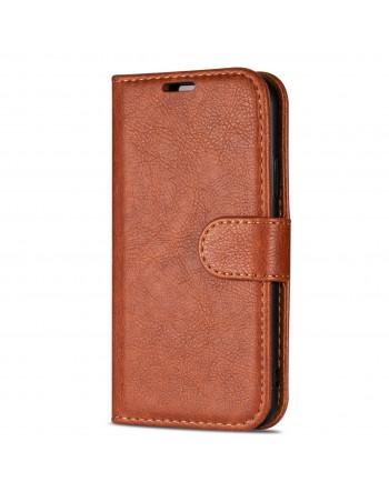 Echt Leren Book Case iPhone X1 Rood