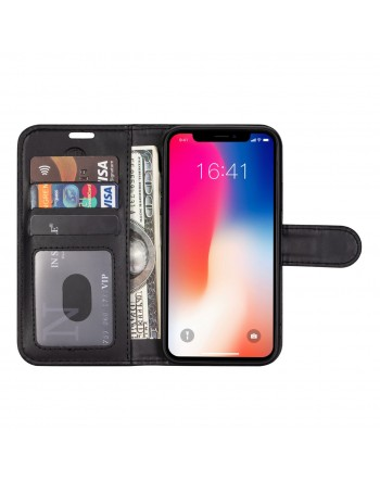 Genuine Leather Book Case iPhone X1 Max Black