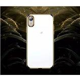 Zachte jane serie met goud rand voor iphone X/XS