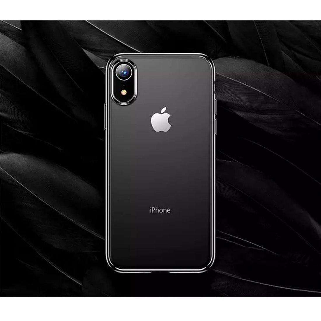 Zachte jane serie met zwarte rand voor iphone XS Max